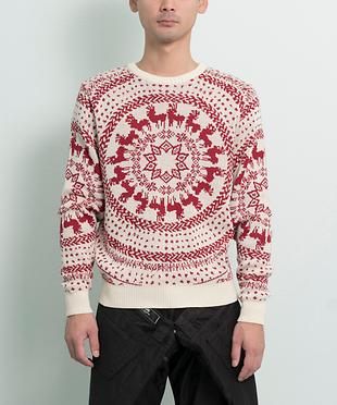 ROLL FAIR-ISLE CREWNECK SWEATER