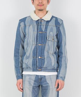 ANNUAL RING LASER BLEACH DENIM JACKET